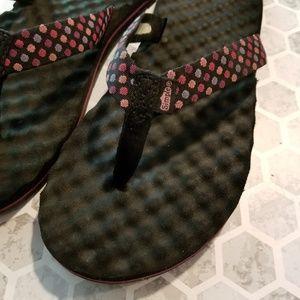 Simple Pink Polka Dot Sandals Flip Flops 8